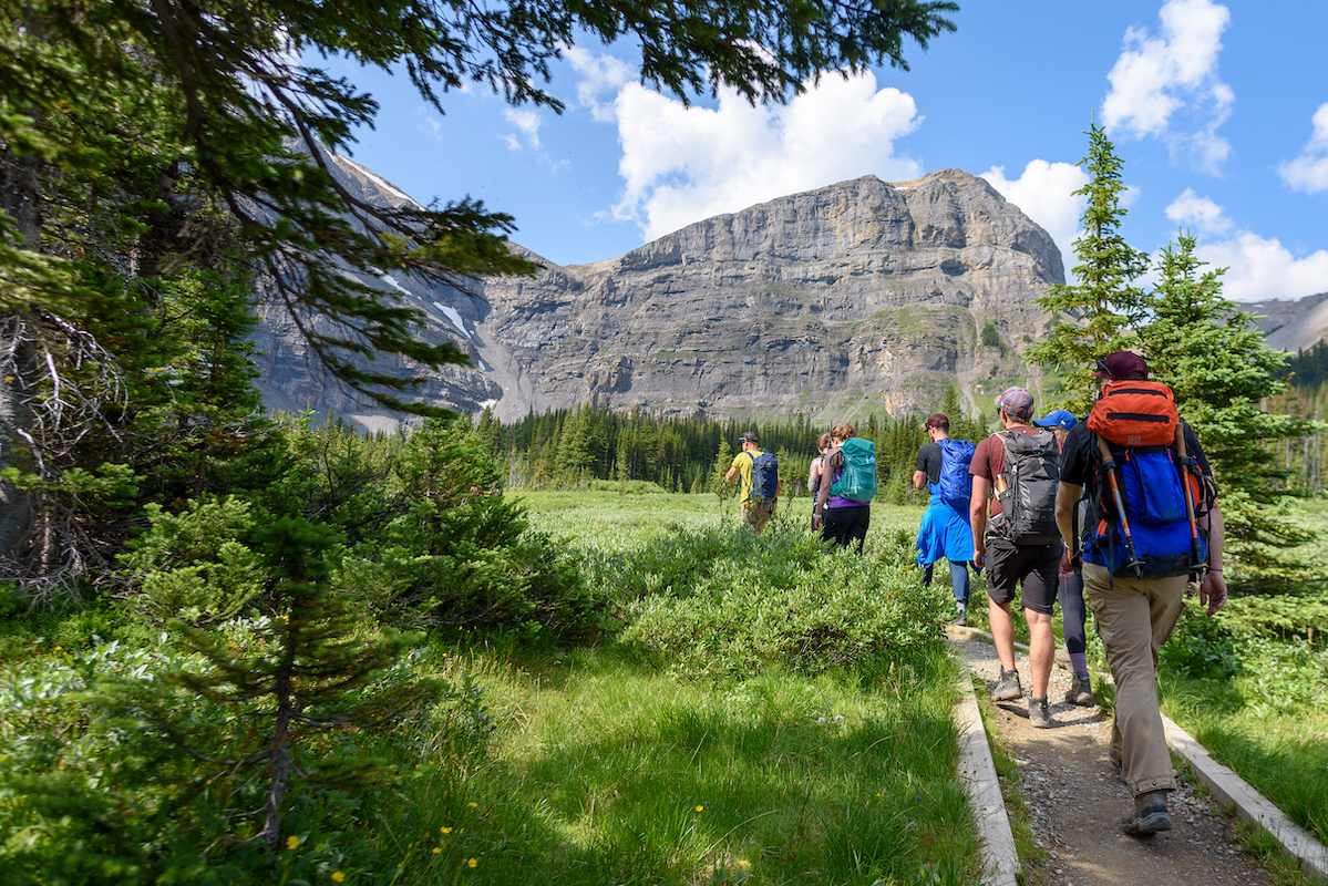 showcase hiking in the Canadian Rockies
